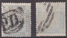 1872 Edifil 116 Cifras 2c. 2 Variedades - Usados