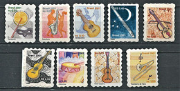 157 - BRESIL 2001 - Yvert 2721/29 - Instrument Musique - Neuf **(MNH) Sans Trace De Charniere - Unused Stamps
