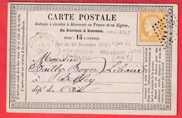 N°55 CONVOYEUR STATION MEXIMIEUX AIN CARTE PRECURSEUR POUR BELLEY GC 2145 LYON INDICE 12 - 1849-1876: Période Classique