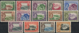Dominica 1938. Mi.#93/106 VF/MNH. Landscapes. KGVI (Ts04) - Familles Royales