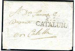 ESPAÑA  Carta De FIGUERAS 18217-  F 16 / CATALUÑA    Hasta CALELLA   PR24 - ...-1850 Voorfilatelie