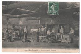 LORETTE (42) COMMUNAUTE DE SAINT ETIENNE : USINE D' ASSAILLY - INTERIEUR DE LA VERRERIE ECRITE EN 1908 - 2 SCANS - - Andere Gemeenten