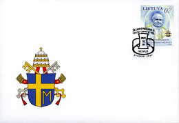 Lithuania.2020.The 100th Anniversary Of The Birth Of Pope John Paul II.FDC - Päpste