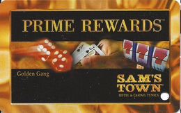Sam's Town Tunica MS - BLANK 8th Issue Golden Gang Slot Card - Casinokaarten