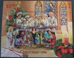 New Zealand Christmas 1994 Souvenir Sheet, Michel NZ BL46 - Blocks & Sheetlets