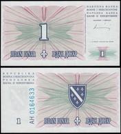Bosnia & Herzegovina - 1 Dinara Banknote 1994 UNC Pick 39     (14422 - Bosnia Erzegovina