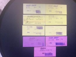 * RATP METRO RER  9 Tickets LUXEMBOURG CHATELET PORT ROYAL DENFERT ROCHEREAU ETOILE LES HALLES St RÉMY LES CHEVREUSES - Europe