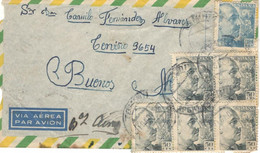 Spain 1957, Airmail Sent On 11/18/1957 To Buenos Aires - 1951-60 Cartas