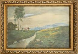 Jelzés Nélkül: Tanya. Akvarell, Papír. Üvegezett, Dekoratív, Kissé Sérült Fa Keretben. 40x57,5 Cm - Non Classificati