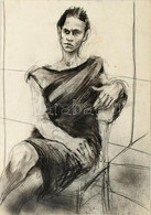 Jelzés Nélkül: Női Portré. Szén, Ceruza, Papír. 43x61 Cm - Non Classificati