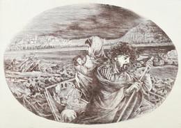 Jelzés Nélkül: Wesselényi, Az árvízi Hajós. Rézkarc, Papír. 32x45,5 Cm - Non Classificati