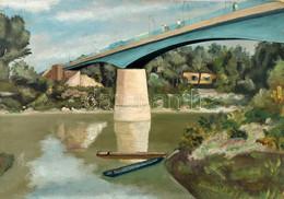 Jelzés Nélkül: Híd A Folyó Felett. Olaj, Karton. 33x46,5 Cm. - Non Classificati