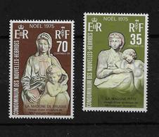 FD Nouvelles-Hébrides / New Hebrides ** 1975  418/419 Noël Sculptures De Michel Ange - Zonder Classificatie