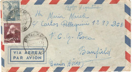 Spain 1954, Airmail Sent On 11/25/1954 To Buenos Aires - 1951-60 Cartas
