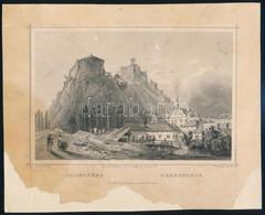 Cca 1850 Ludwig Rohbock (1820-1883): Trencsén, Acélmetszet, Jelzett A Metszeten, Foltos / Steel Engraving, 13×19 Cm - Incisioni