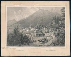 Cca 1850 Ludwig Rohbock (1820-1883): Tátrafüred, Acélmetszet, Jelzett A Metszeten, Szélén Foltos / Steel Engraving, 13×1 - Gravures