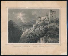 Cca 1850 Ludwig Rohbock (1820-1883): Rosnyói Vár Erdélyben, Acélmetszet, Jelzett A Metszeten, Felkasírozva, Sérülésekkel - Gravures