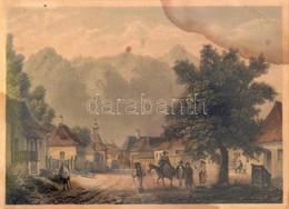 Cca 1840 Ludwig Rohbock (1820-1883): Veszteglő A Verestoronyi Szorosban. Színezett Acélmetszet Beszakadással. Foltos. Üv - Gravures
