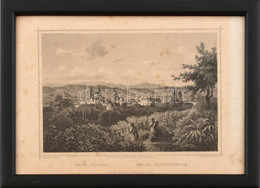 Cca 1860 Ludwig Rohbock (1820-1883) - J(ohann) Poppel (1807-1882): Eger Délről, Acélmetszet, Paszpartuban, üvegezett Ker - Gravures