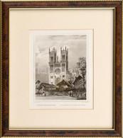 Cca 1860 Ludwig Rohbock (1820-1883)-Georg Michael Kurz (1815-1883): A Fóthi Szentegyház, Acélmetszet, Papír, Paszpartuba - Gravures
