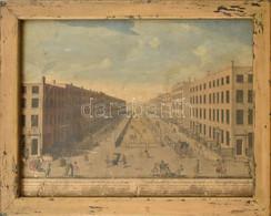 Cca 1750-1800 Perspective View Of Sackville Street And Gardiner's Mall In Dublin, 1749. Rézmetszet, Papír. Jelzés Nélkül - Gravures