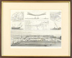 Cca. 1870 Seewesen (Tengeri Utak), Brockhaus In Leipzig (Lipcse). Lent A Marseille-i Kikötő Látható. Acélmetszet, Papír. - Gravures