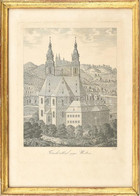 Cca. 1820 Frankenthal Gegen Westen (frankenthali Scriptorium) Rézmetszet, Papír. Üvegezett Fa Keretben. Szép állapotban, - Gravures