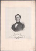 1857 Révész Imre A Debreceni Református Egyház Egyik Prédikátora Barabás Miklós Litográfiája. Kartonon. 22x18 Cm - Gravures