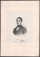 1856 Fördős Lajos Kecskeméti Reform. Lelkész. Litográfia. Barabás Miklós Litográfiája. Kartonon. 22x18 Cm - Gravures