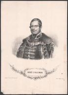 1857 Báró Sína Simon (1810-1876) Földbirtokos, Diplomata és Mecénás Kőnyomatú Portréja. Kayser Litográfia Vahot Imre Kia - Gravures