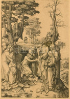 Leyden, Lucas Van (1494-1533) Után, XIX. Sz. Ismeretlen Művész Munkája: Lázár Feltámasztása. Heliogravűr, Papír, Jelzés  - Gravures