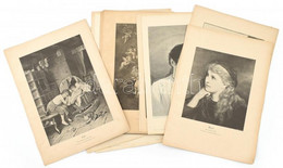 Cca 1900 Kb. 50 Db Német Rotációs Fametszet és Nyomat, Többségében Festmény Reprodukciók, Klf. Művészek és Kiadások, Rés - Gravures
