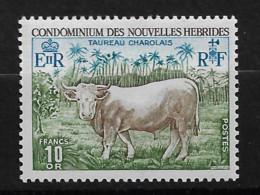 FD Nouvelles-Hébrides / New Hebrides ** 1975 408 Taureau Charolais Faune - Zonder Classificatie
