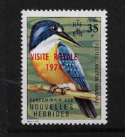 FD Nouvelles-Hébrides / New Hebrides ** 1974 386 Faune Oiseau Surcharge Visite Royale - Zonder Classificatie