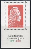 "2021 / Hors Abt ""PREMIER JOUR 1951 - 2021"" 1ex L' ENGAGEE à 2.56 €-1er FEUILLET Carnet MARIANNE GANDON+L' ENGAGEE - NEUF - Nuevos"