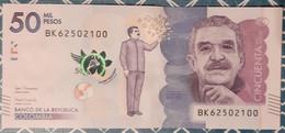 Colombia 50,000 Pesos 23/7/2019 AUNC Gabriel García Marquez - Kolumbien