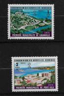FD Nouvelles-Hébrides / New Hebrides ** 1976 433/434 Première Municipalité De Luganville Port-Villa - Zonder Classificatie