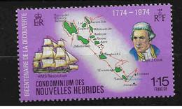 FD Nouvelles-Hébrides / New Hebrides ** 1974 397  Bicentenaire Découverte COOK - Zonder Classificatie
