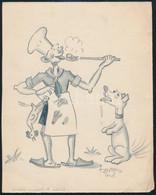 Tamás 1938 Jelzéssel: Cserkész Grafika. Megjelent. Ceruza, Papír. Jelzett. 18x14 Cm - Scoutisme