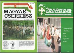 1991-1994 Magyar Cserkész 4 Száma: XXX. évf. 1991. Július + XXXIII. évf. 8., 11., és 12. Sz., 1994. Október-november-dec - Scoutisme