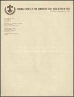 Az Amerikai Magyar Emigrációs Cserkész Szövetség Főtanácsának Használatlan Levélpapírja - Scoutisme