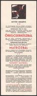1934 Esztergomi 14/ö. Sz. Holló Cserkészcsapat Meghívója Öregcserkészbálra és Matrózbálra, 12x16 Cm - Scoutisme