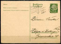 """German Empires 1938 GS Mi.Nr.P229 Hindenburg M.Propaganda MWST""""Düsseldorf-Jeder Deutsche Trägt Das Zeichen...""""1 GS Used - Ganzsachen"""