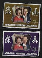 FD Nouvelles-Hébrides / New Hebrides ** 1972 354/355 Noces D'argent Des Souverains Britanniques - Zonder Classificatie