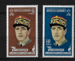 FD Nouvelles-Hébrides / New Hebrides ** 1970  De Gaulle Ralliement à La France Libre - Zonder Classificatie