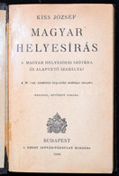 Kiss József: Magyar Helyesírás. Bp.,1944, Szent István-Társulat. Második, Bővített Kiadás. Sérült Gerincű Egészbőr-kötés - Non Classificati
