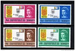 GB JERSEY - 1969 JERSEY POST OFFICE INAUGURATION SET (4V) SG30-33 FINE MNH ** - Jersey