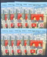 MARGARET ISLAND LOT 10 BLOCKS HONG KONG BACK TO CHIMA   MNH - Autres