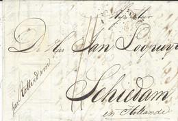 """30-4-1816- Lettre De Paris Pour Schiedam """" Par Rotterdam""""  -au Dos, Fransche /Corresp Dans Un Losa + DEB.119 / ROTTERDAM - 1801-1848: Précurseurs XIX"""