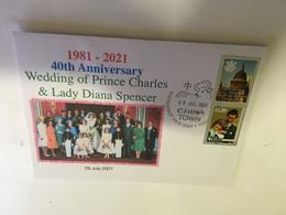 (V V 26 A) 40th Anniversary Of Royal Wedding Of Prince Charles & Lady Diana Spencer (29 July 2021) Cook Island Stamp - Femmes Célèbres